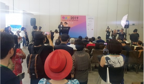 John Sudheer at Korean Art Opens 2019 Global Art Fair Singapore