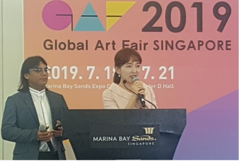John Sudheer at Korean Art Opens 2019 Global Art Fair Singapore